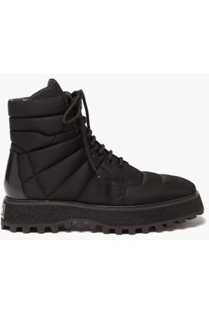 Dolce & Gabbana Men Boots - Michelangelo Quilted Nylon Boots - Mens