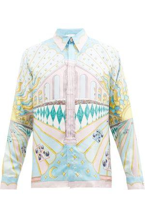 Casablanca Men Shirts - Car-print Silk-twill Shirt - Mens