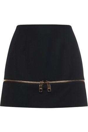 Dolce & Gabbana Women Mini Skirts - Wool Tailoring Mini Skirt W/zip Detail