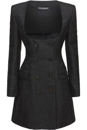 Dolce & Gabbana Women Blazers - Cotton Jacquard Tweed Blazer Dress