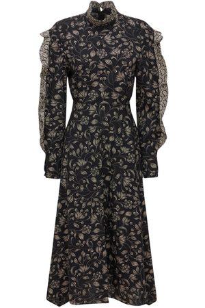 Isabel Marant Leenae Printed Cotton Midi Dress