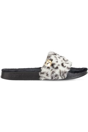 PUMA Leadcat Ylm Faux Fur Sandals