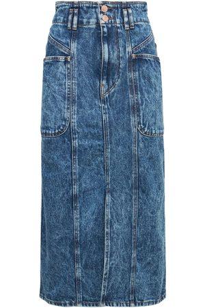 Isabel Marant Women Midi Skirts - Toria Cotton Denim Midi Skirt