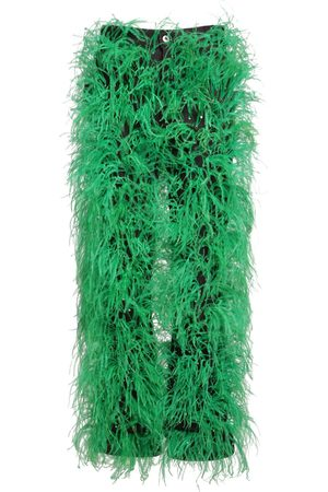 Bottega Veneta Women Pants - Soft Denim Feather Pants