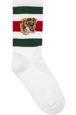 Gucci Tiger Patch Cotton Blend Socks