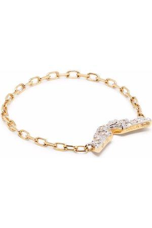 DJULA Women Rings - 18kt yellow diamond Wings chain ring