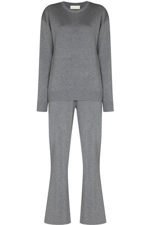 Olivia von Halle Carmel two-piece track suit - Grey