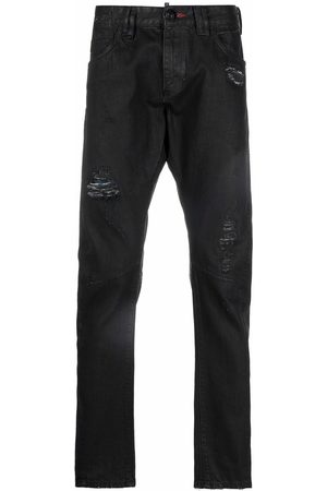 Philipp Plein Men Skinny - Distressed skinny-cut jeans