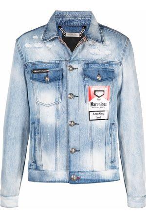 Philipp Plein Men Denim Jackets - Marvelous denim jacket