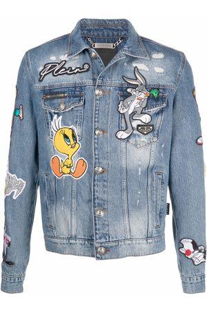 Philipp Plein Men Denim Jackets - Looney Tunes denim jacket