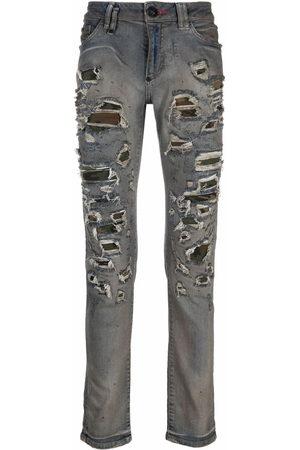 Philipp Plein Men Slim - Camouflage-print slim-fit jeans