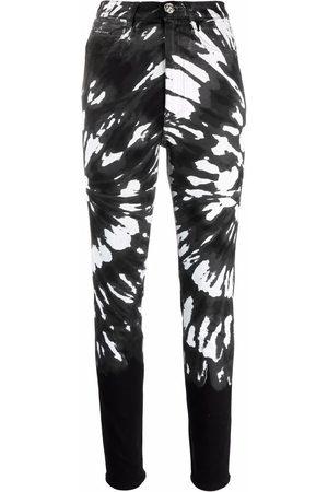 Philipp Plein Women Skinny Pants - Tie-dye slim-fit trousers