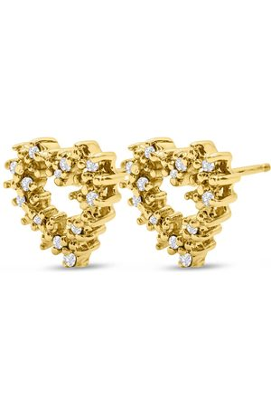SuperJeweler Previously Owned 1/4 Carat Diamond Heart Stud Earrings in 14K (2.4 g) ( by