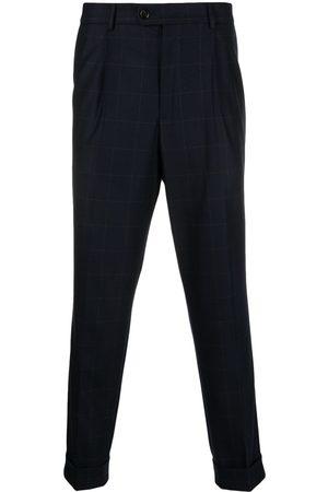 Brunello Cucinelli Men Formal Pants - Inverted pleat square-pattern trousers