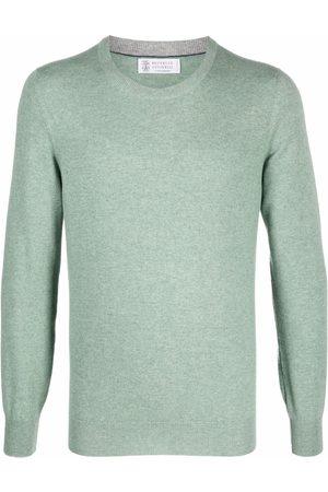 Brunello Cucinelli Men Sweatshirts - Crewneck cashmere jumper