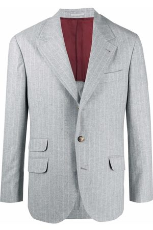 Brunello Cucinelli Men Blazers - Single-breasted blazer - Grey
