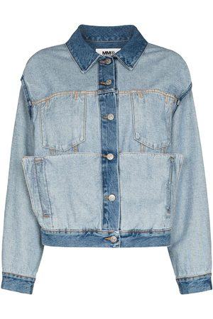 MM6 MAISON MARGIELA Women Denim Jackets - MM6 JKT DNM CN LS INSIDE OUT TRNSFRMBL C