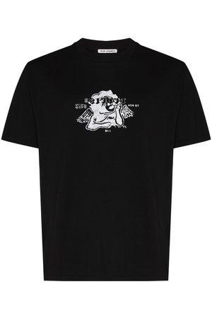 OUR LEGACY Men T-shirts - OL BOX CHST PRNT BK FLWR PRNT SS TEE BLK