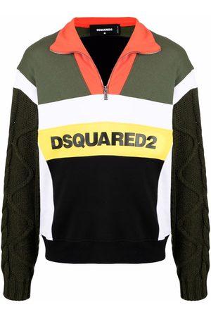 Dsquared2 Men Sweatshirts - Logo-print zip-up jumper