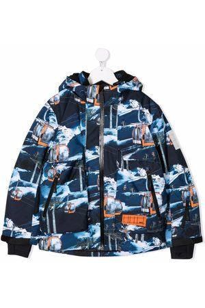 Molo Kids Boys Bomber Jackets - Cableway-print jacket