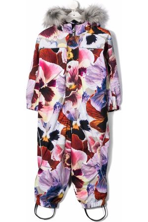 Molo Girls Jumpsuits - Floral-print jumpsuit