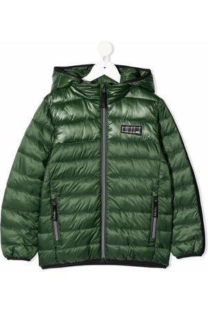 Molo Boys Puffer Jackets - Patch-detail hooded padded jacket