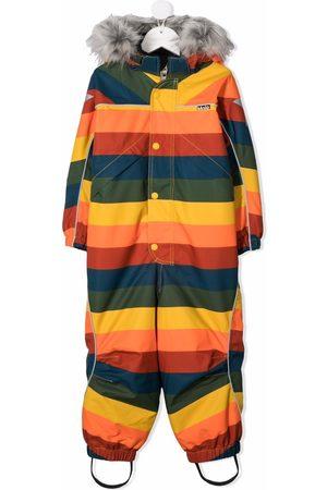 Molo Kids Girls Ski Suits - Stripe-print hooded snowsuit