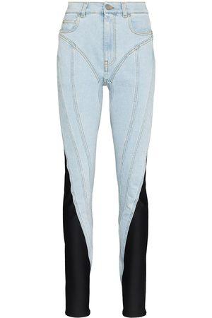 MUGLER Spiral two-tone jeans