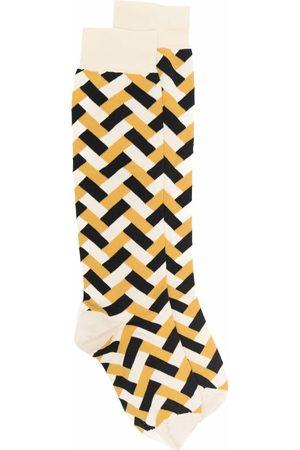Jil Sander Women Socks - Geometric-pattern socks - Neutrals