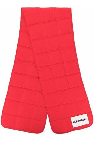 Jil Sander Men Scarves - Logo-patch padded down scarf