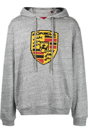 MOSTLY HEARD RARELY SEEN Men Hoodies - Turbo-print cotton hoodie - Grey