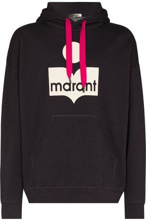 Isabel Marant Men Hoodies - Logo-print oversized hoodie