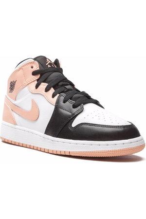 """Jordan Kids Boys Sneakers - Air Jordan 1 Mid """"Arctic Orange"""" sneakers"""