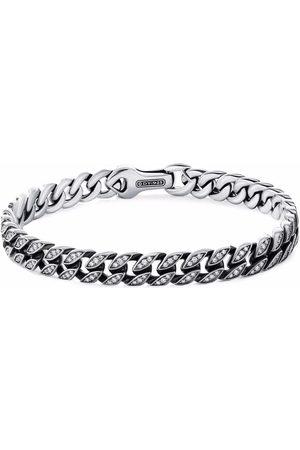 David Yurman Men Bracelets - Sterling 8mm curb chain diamond bracelet