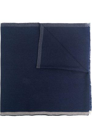 Brunello Cucinelli Men Scarves - Contrasting-edge frayed scarf