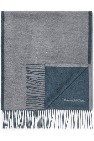 Ermenegildo Zegna Men Scarves - Fringed logo-embroidered scarf