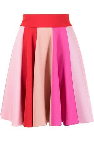 Dolce & Gabbana Women Pleated Skirts - Colourblock-panel flared skirt - Multicolour