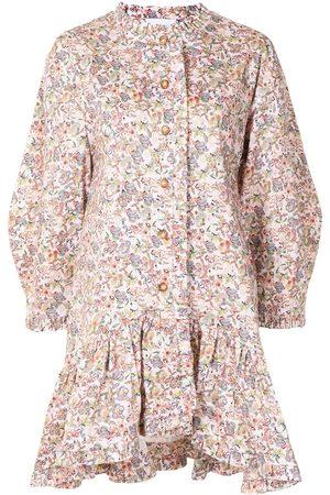 Kika Vargas Women Party Dresses - Leonora printed flared mini dress