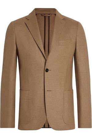 Ermenegildo Zegna Men Blazers - Cashmere-wool single-breasted blazer - 700