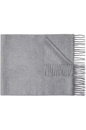 Ermenegildo Zegna Men Scarves - Fringed cashmere scarf - Grey