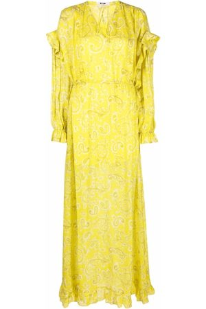 Msgm Ruffle-trim long dress