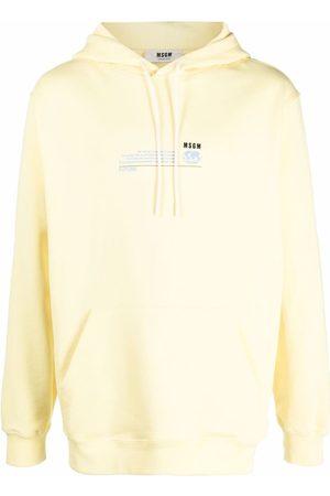 Msgm Graphic-print organic-cotton hoodie
