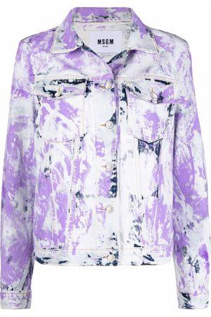 Msgm Tie-dye denim jacket