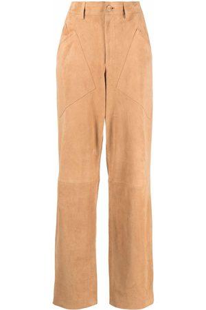 Alberta Ferretti Women Straight Leg Pants - Mid-rise straight-leg trousers - Neutrals
