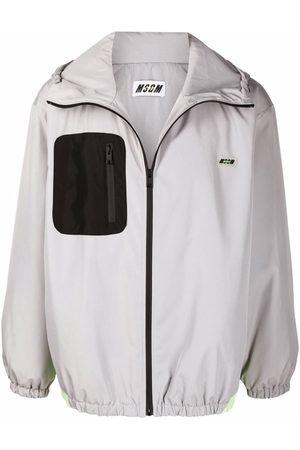 Msgm Men Sports Jackets - Contrasting pocket square sports jacket - Grey