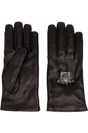 VERSACE La Medusa leather gloves