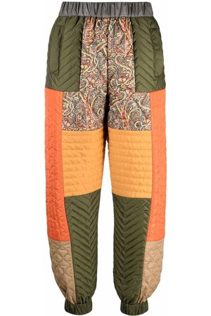 Etro Women Straight Leg Pants - Patchwork elasticated trousers