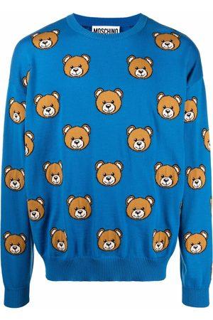 Moschino Men Sweatshirts - Teddy intarsia-knit jumper