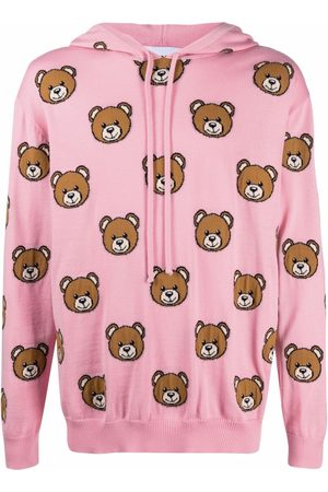 Moschino Men Hoodies - Teddy intarsia-knit hoodie