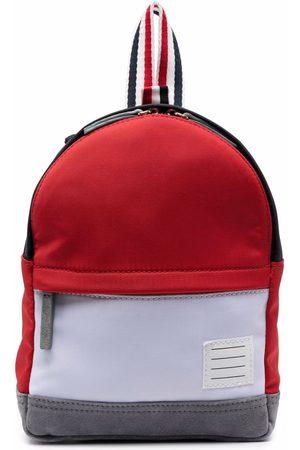 Thom Browne Boys Rucksacks - Colour-block backpack - 960 RWBWHT